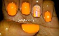 orange/water marble