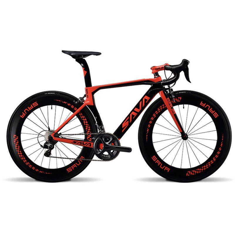 426fbc371a8 SAVA 700C Road Bike Carbon Fiber Bicycle 22 Speed 6800 Derailleur, Carbon  Fiber Frame / Wheelset / Seatpost / Fork