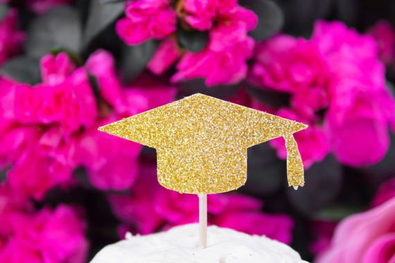 Photo of 12CT Graduation Cupcake Topper, Class of 2017, Graduation Party, Graduation Party, 2019 Graduation, Party Decor, Glitter Cupcake Toppers