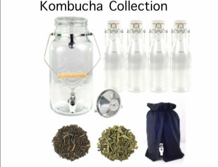 Includes Kombucha Party Entertainer 1 Set Of Brew N Serve Bottles Funnel Strainer Kombucha Green Base Kombucha Black Bas Kombucha Steeped Tea Brewing