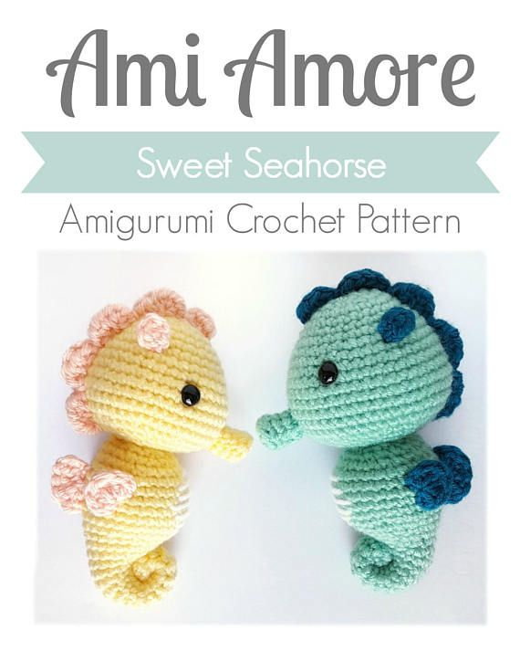 Make your own seahorse in just a few hours! A fun and quick pattern ...
