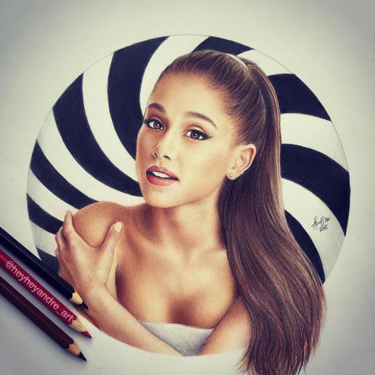 Heyheyandreart ariana grande drawn with colored pencils follow me on instagram for more drawings heyheyandre art