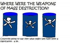 WERE THE WEAPONS OF MASS DESTRUCTION REAL? AS FAR AS THE GENERAL PUBLIC IS CONCERNED, THEY WERE NEVER FOUND