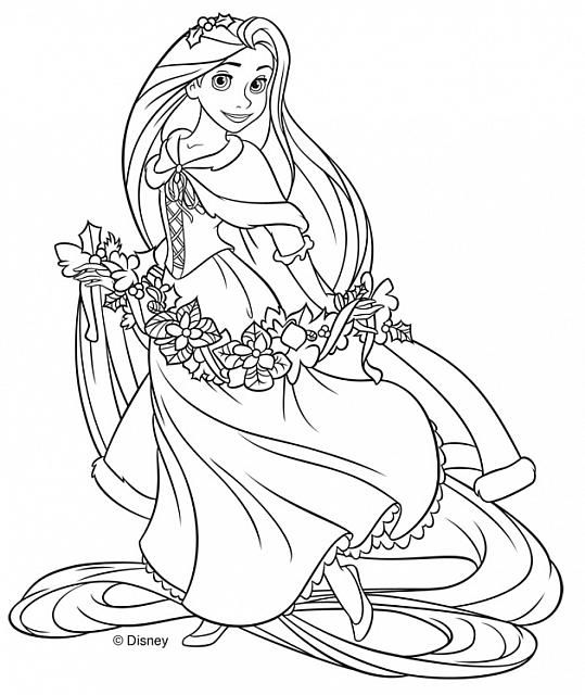 rapunzel in inverno disegni da colorare gratis coloring On disegni da colorare rapunzel