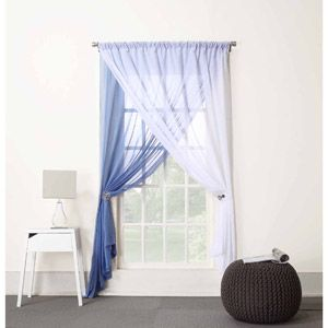 918 Millennial Lorelei Double Layer Curtain Panel Window Sheers Sheer Curtains
