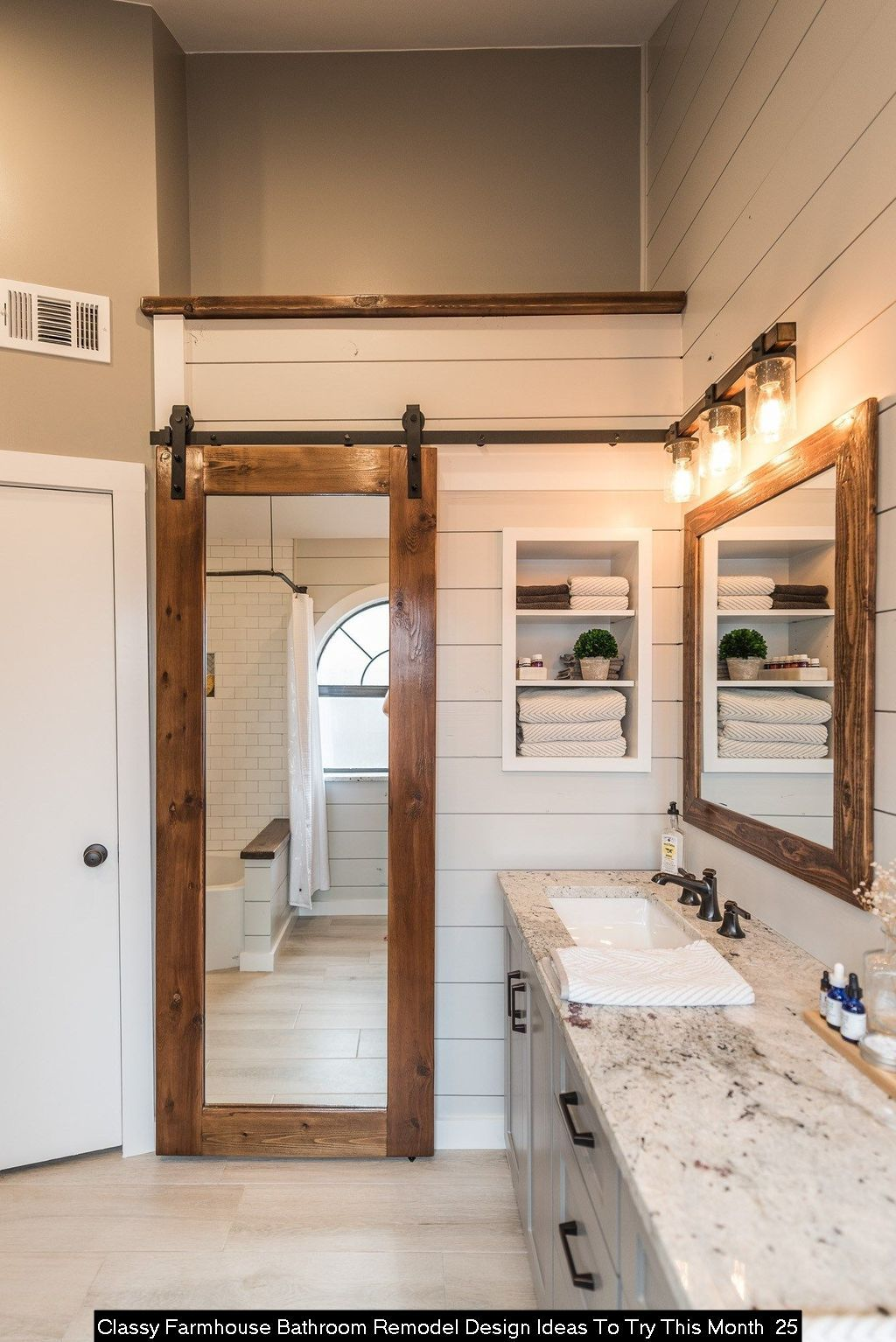 20 Classy Farmhouse Bathroom Remodel Design Ideas To Try This Month Rustic Master Bathroom Bathroom Remodel Master Master Bathroom Renovation