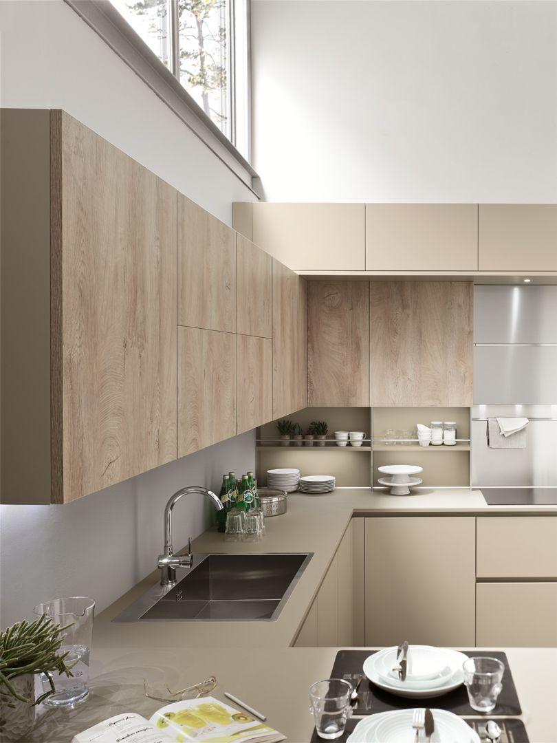 Lounge Beige Ecru Tiglio Silver Dek Cuisines Design Placard Cuisine Cuisine Moderne