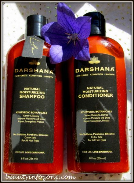 Beautiful hair with Darshana Natural Moisturizing Shampoo and Conditioner