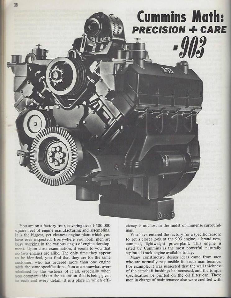Cummins V903  Cummins also made a V engine with limited success