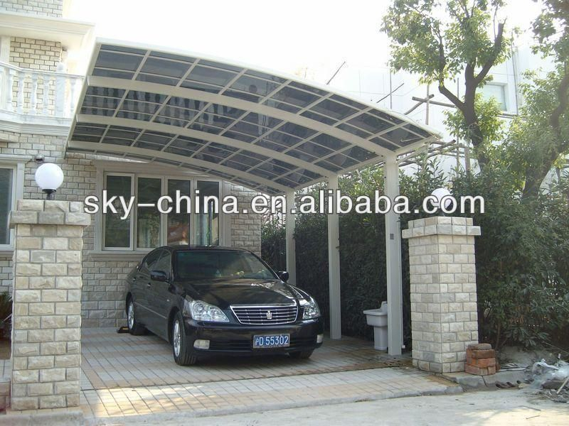 Aluminum entrance roofing car parking shed buy aluminum for Car porch roof