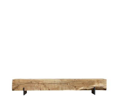French Oak Beam Bench / Steel Base