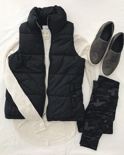 wwwhomedecormomm fall winter outfit flatlay black vest vince sneakers slip oblack