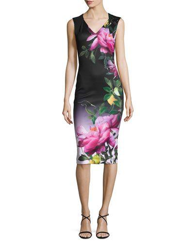 f6dbabf2ae0adf Oldiva Citrus Bloom Midi Dress