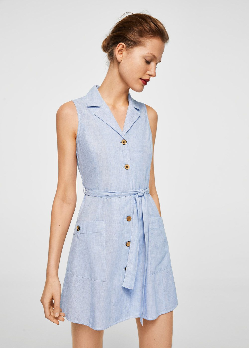 bb1ab4dcd8670 Kemerli koton elbise - Elbise - Kadın | vacation | Dresses, Blue ...