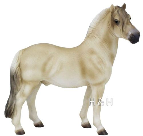 CollectA Brown Dun Fjord Horse Stallion - New for 2013!