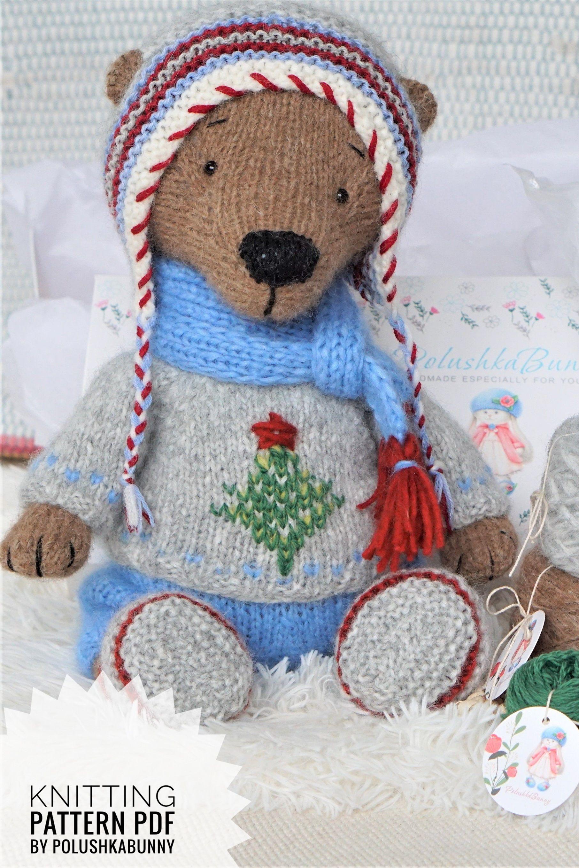 KNITTING pattern PDF - Teddy Bear - Winter Outfit by ...