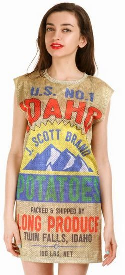 potato bag dress trend bags