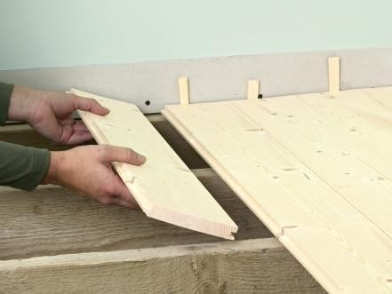 How To Lay A Tongue And Groove Subfloor Plywood Subfloor Flooring Types Of Flooring