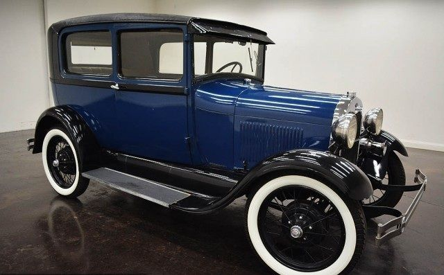 1929 Ford Model A Sedan de transmission 3 manuel de la vitesse avec - couleur des portes interieur