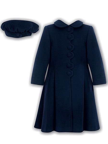 Sarah Louise Little Girls Navy Coat & Hat | Girls, Dresses. and ...
