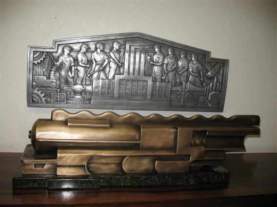 After Martel Train Sculpture
