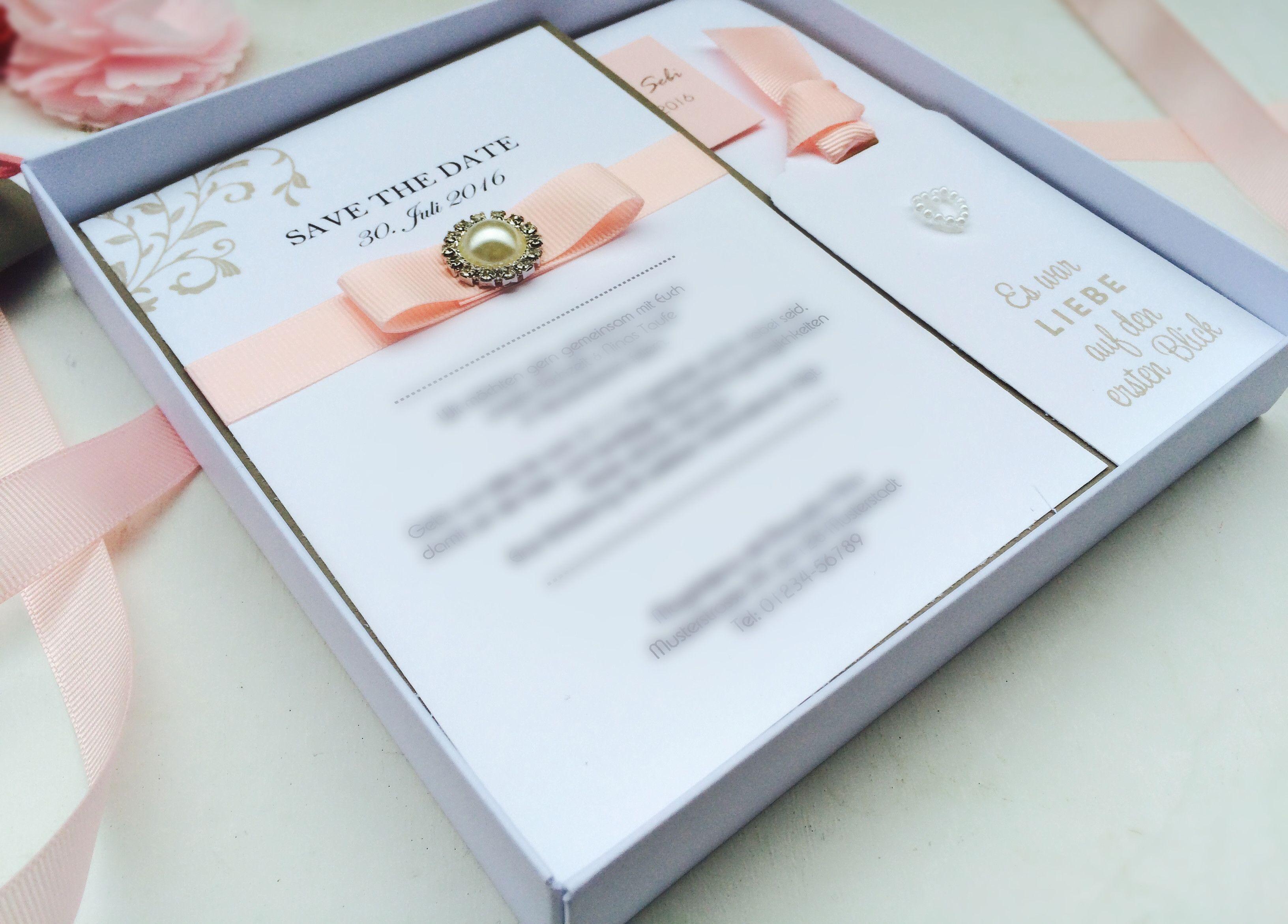 Einladung Zur Hochzeit In Einer Liebevollen Schachtel, Sandra Kolb,  Www.samey.de