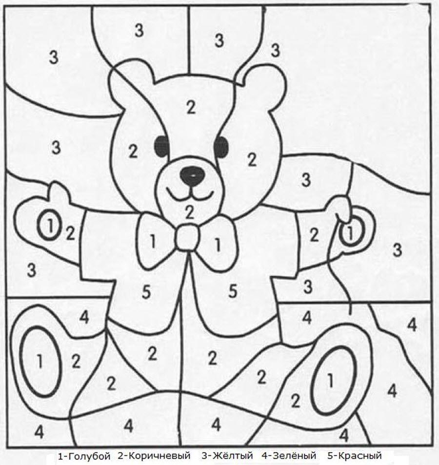 Картинки раскраски по числам