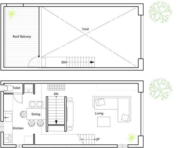 Hiyoshi House A Small Simple Home By Eana Small House Japanese