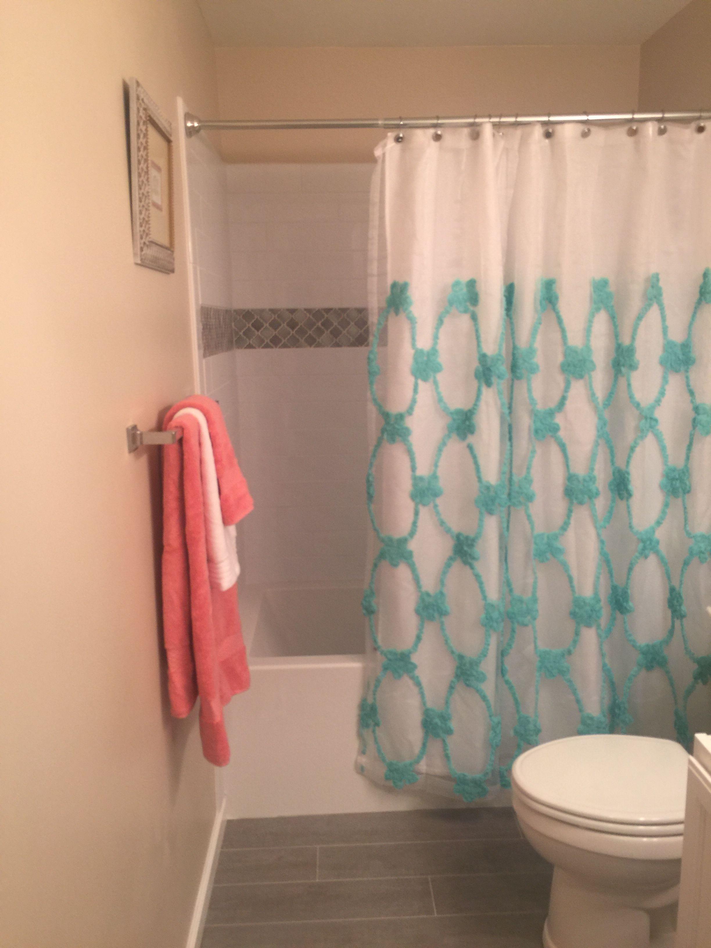New floor tile and shower tile