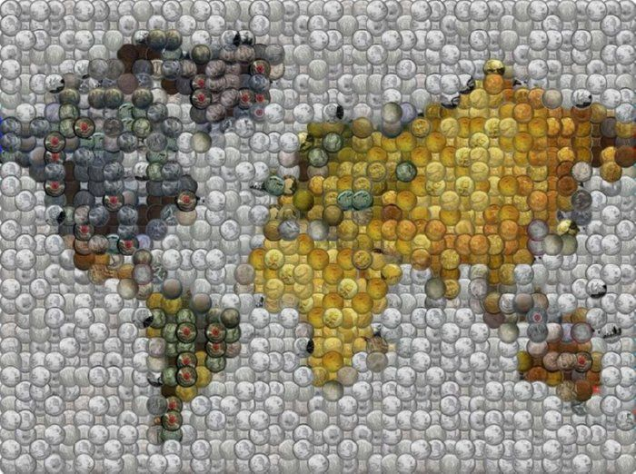 World map of stacked coins by paul van scott for close ups world map of stacked coins by paul van scott for close ups fineartamerica gumiabroncs Images