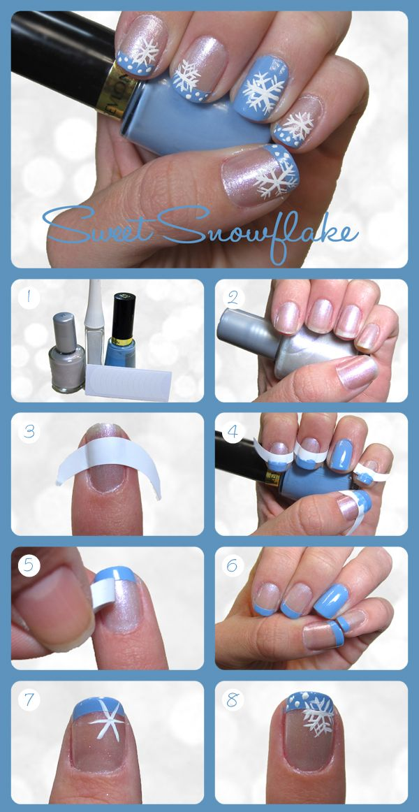 15 Holiday Manicures That Are Actually Easy | Snowflakes, Nail ...