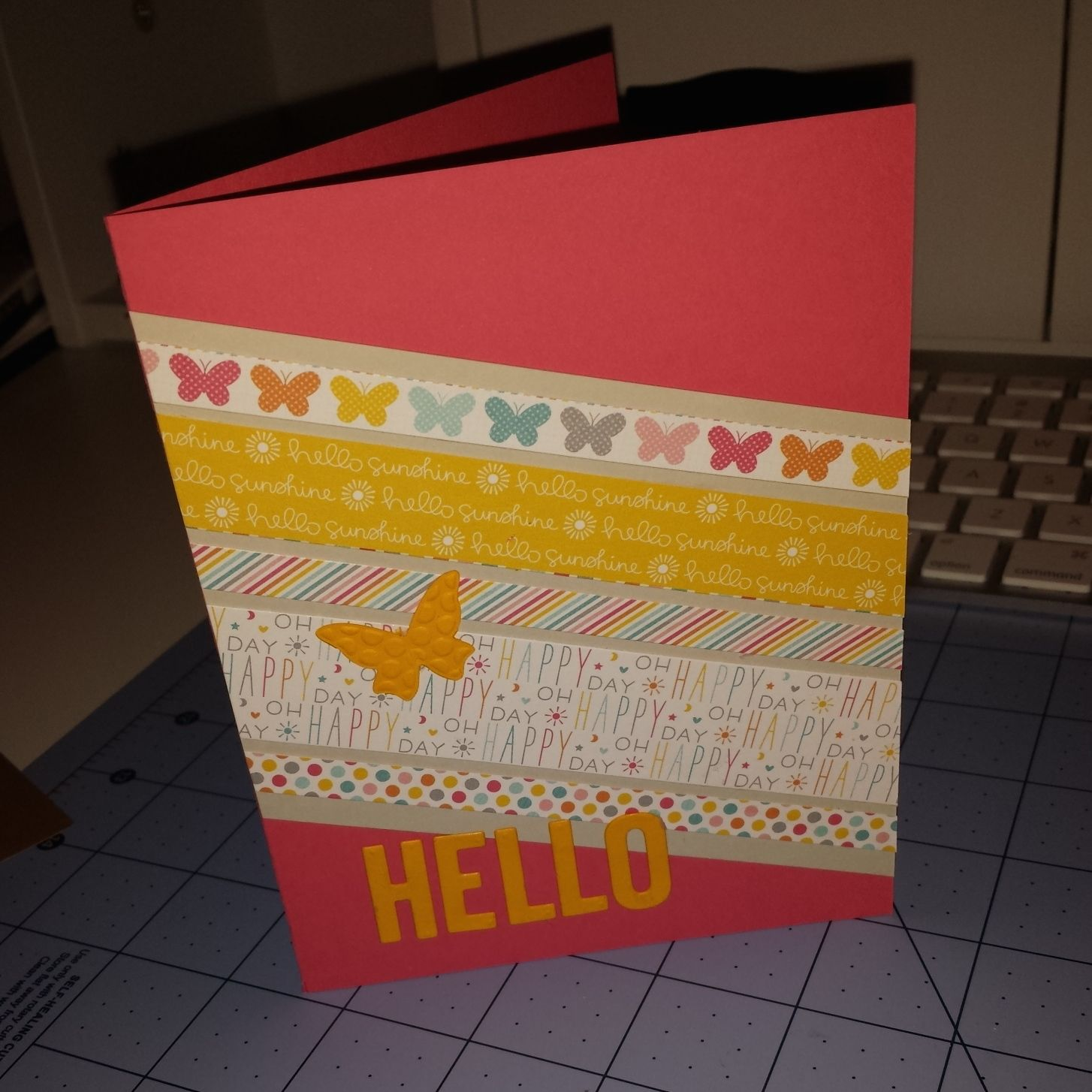 Lawn fawn hello homemade birthday card lawn cuts cards pinterest