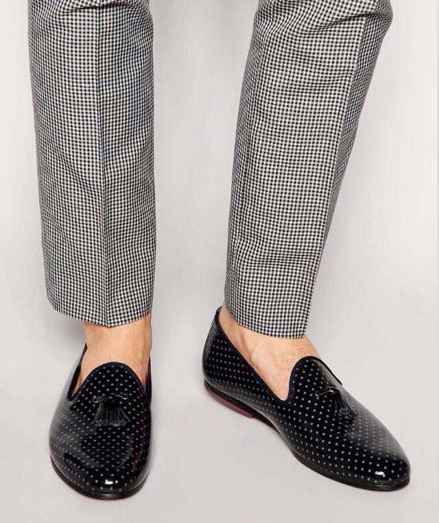 poka dot loafers   Dress shoes men