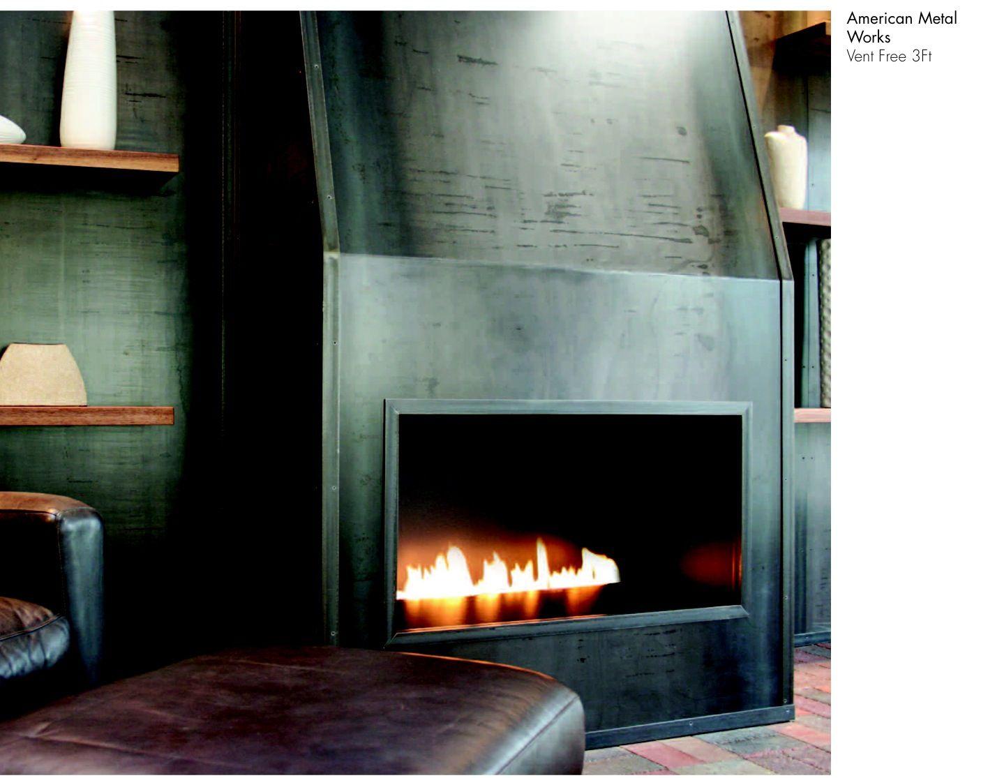 Ver Cool Black Metal Fireplace Surround, Black Metal Fire Surround