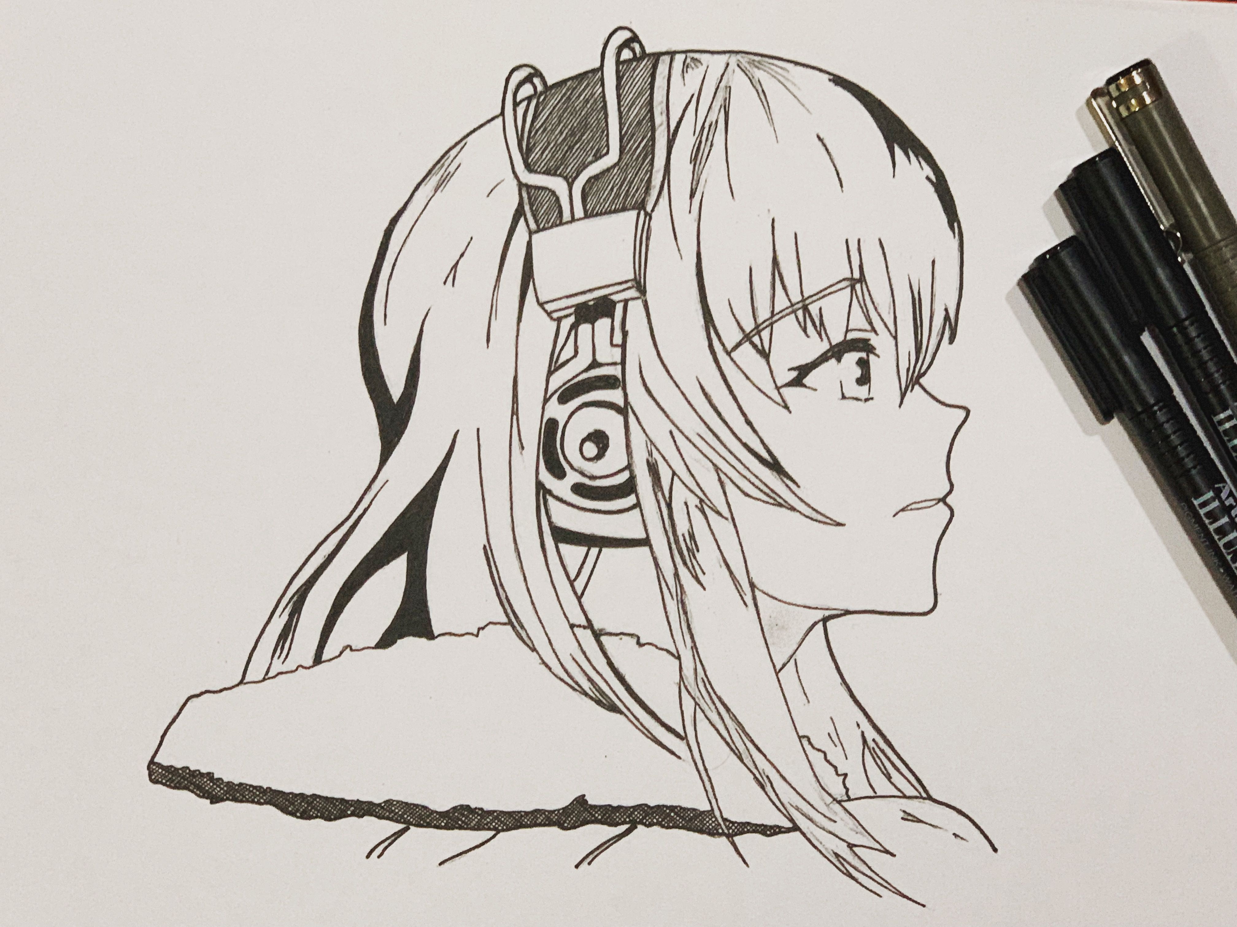 Music Time Anime Drawing Ink Anime Drawings Anime Drawings
