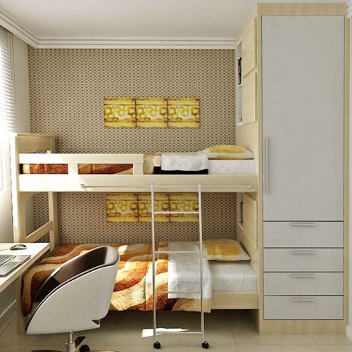 Quartos pequenos 11 projetos com at 14 m quarto de for Dormitorio 2x3