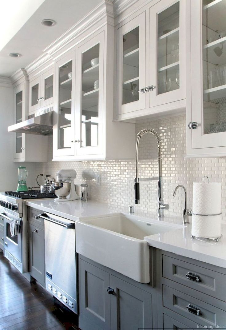 Two tone kitchen cabinets kitchens in pinterest kitchen