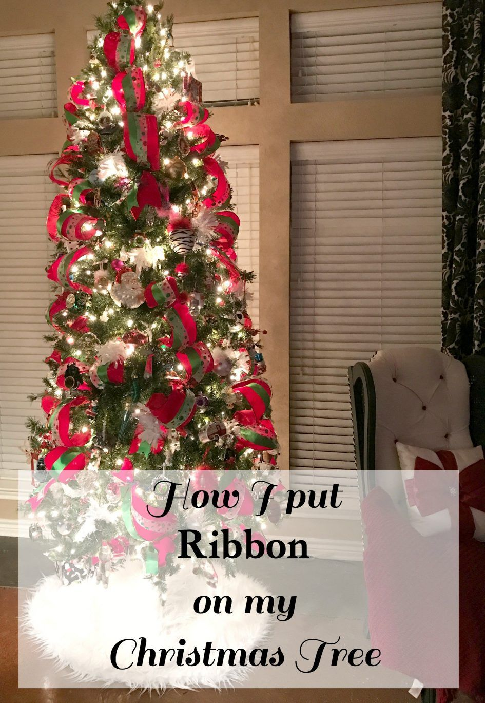 Christmas Tree How Put Ribbon Christmas Tree Patina And Paint Horizontally Pictures To On Pinterest 2015 A M Ribbon On Christmas Tree Christmas Tree Christmas
