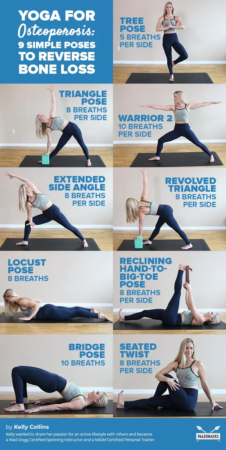 9 Simple Poses To Reverse Bone Loss Yoga For Osteoporosis Yoga For Beginners Types Of Yoga