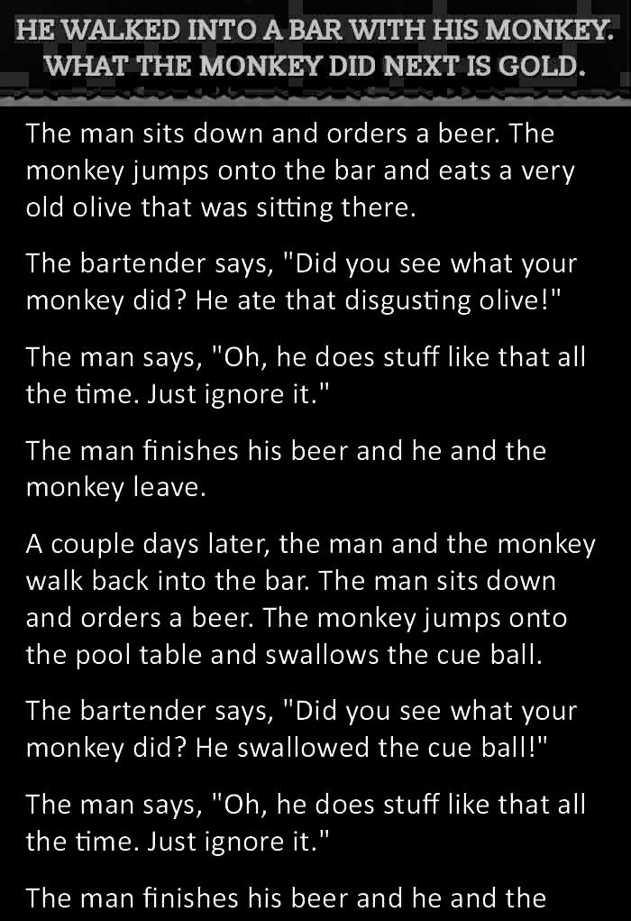 Monkey Bar Joke : monkey, Funny