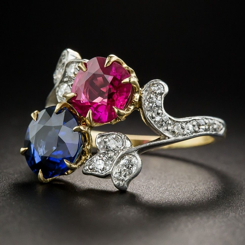 df0e91774 Edwardian Tiffany & Co. Ruby and Sapphire Ring in 2019 | Blingalious ...