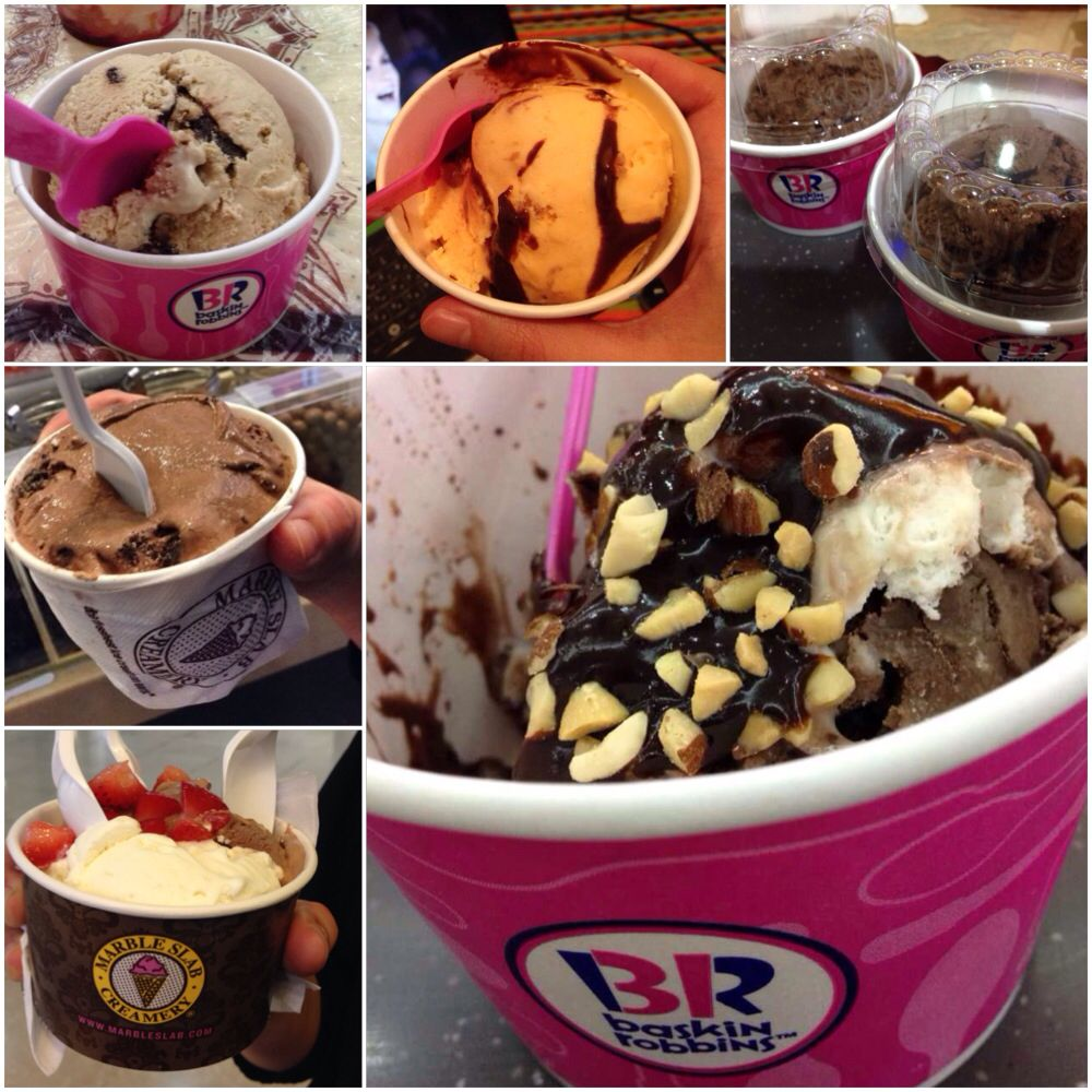 Ice cream addict! Baskin Robbins and Marble Slab ^^ Ice