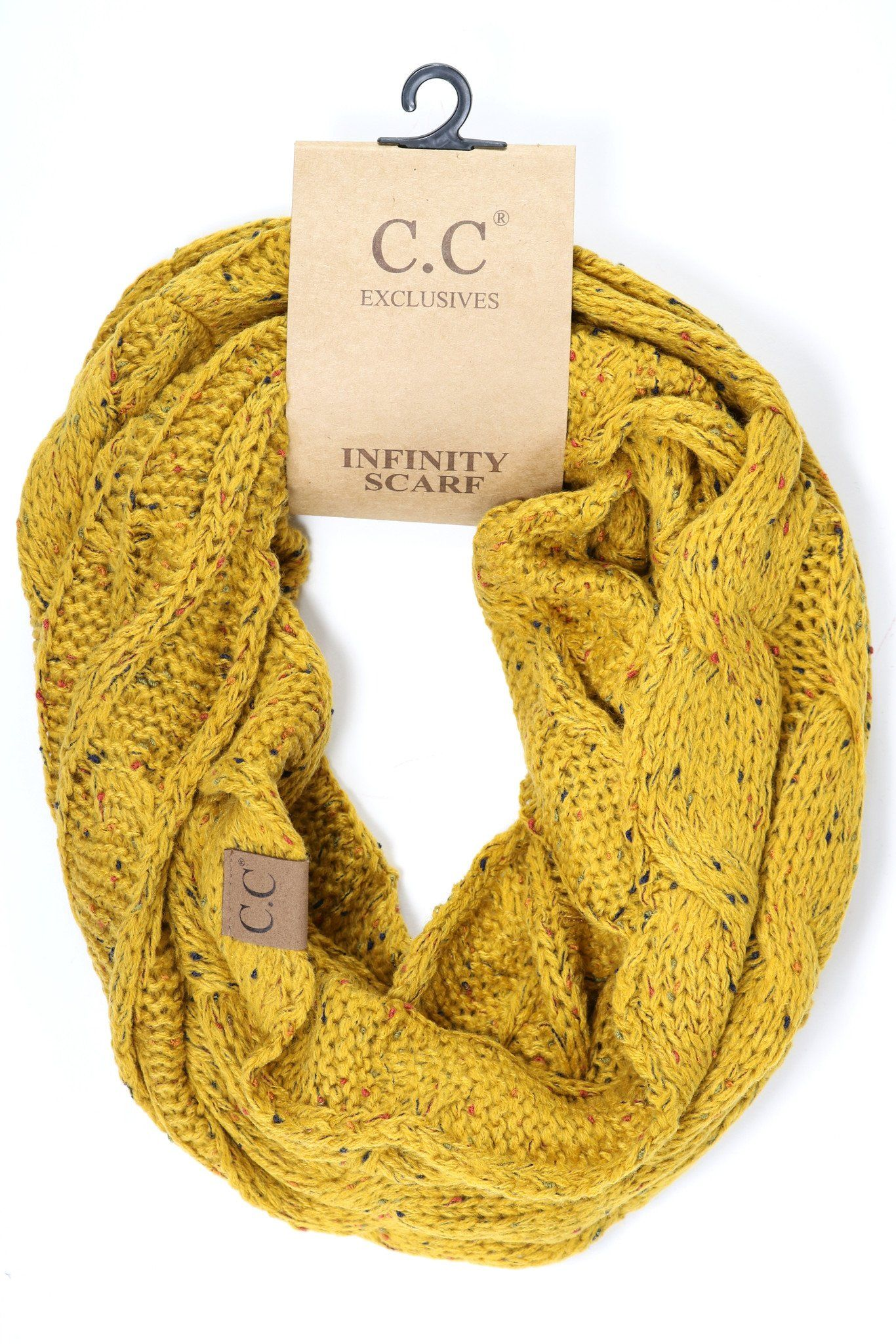 bf5dae743 Flecked CC Infinity Scarf SF33 in 2019 | Infiniti scarf knitted ...