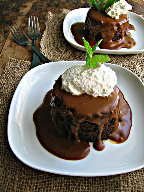 Sticky Toffee Pudding with Molasses Sauce
