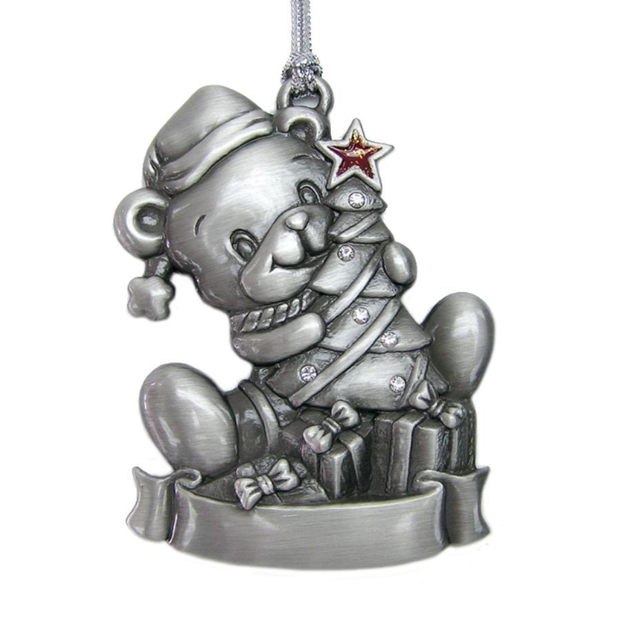 Pewter Plated Bear Christmas Ornament (http://www.poco-k.com/product/pewter-plated-bear-christmas-ornament-ck0103/)