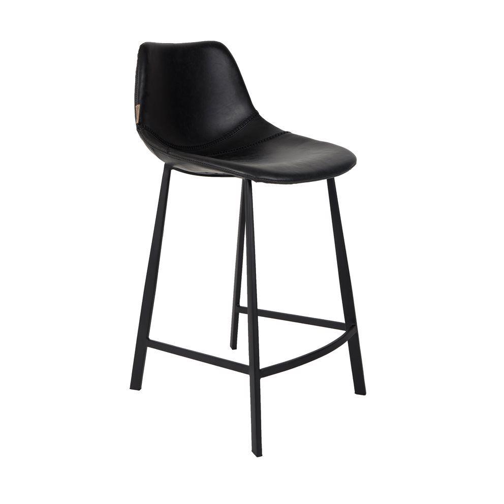 Black leather bar stool € 239