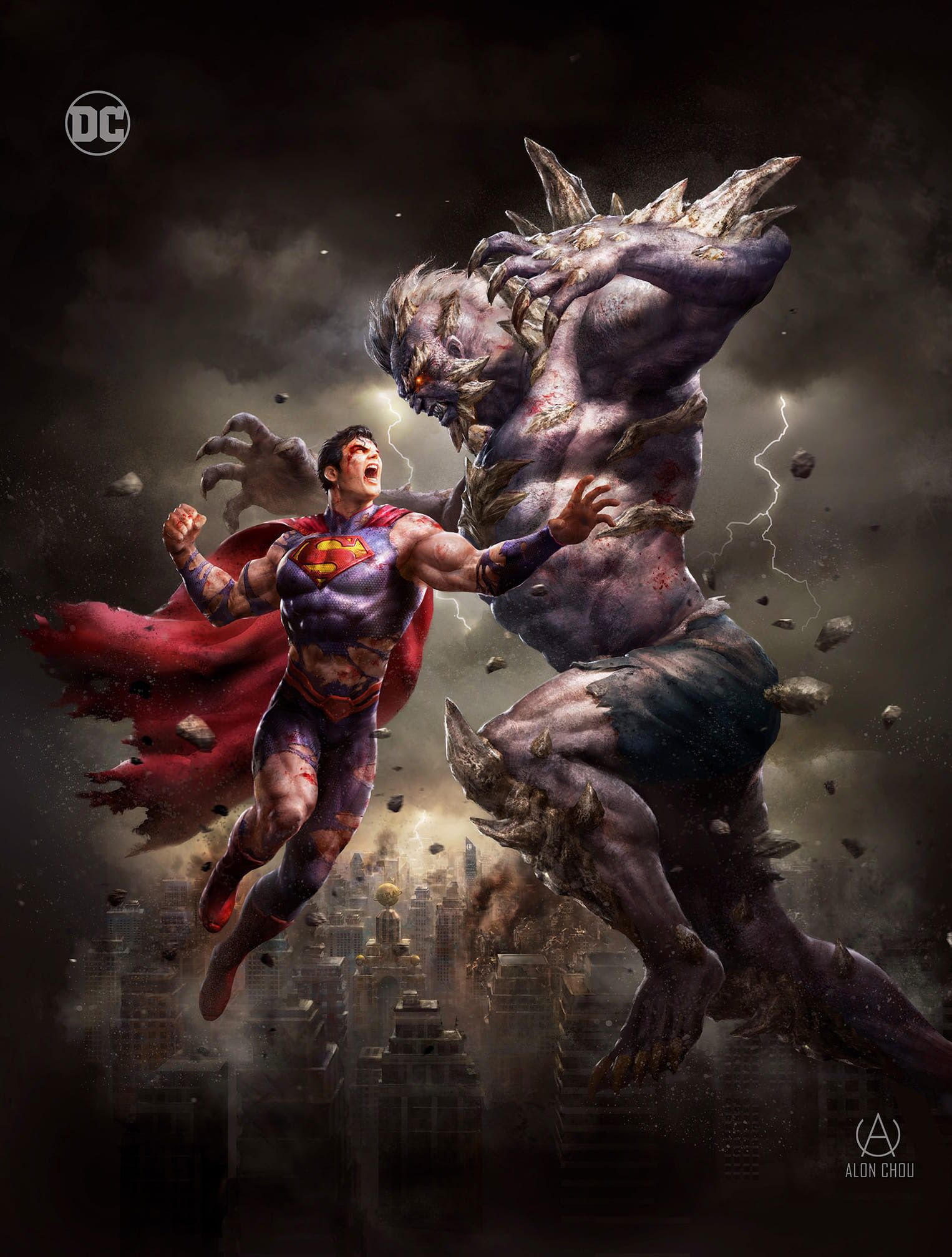 Dc Comic Book Artwork Superman Vs Doomsday By Alon Choa We