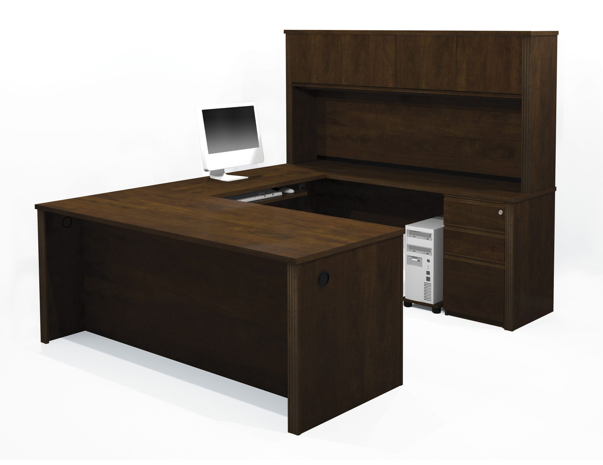 bormann executive desk with 3 drawers and 4 cabinets