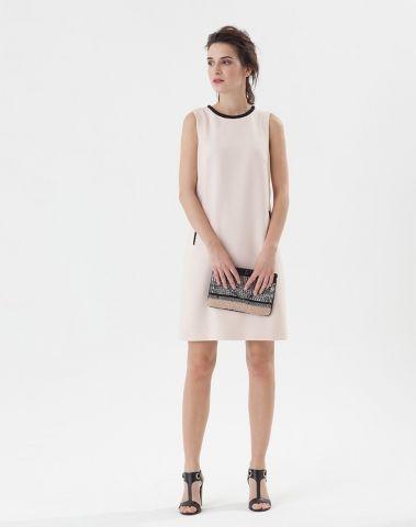 Mariée poudrée robe droite courte en crêpe Tessy 123 - ClicknDress ... 86f45df308e