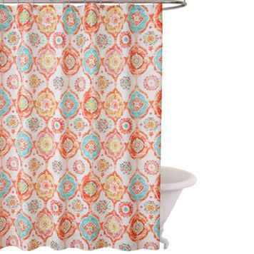 Fiesta Ava Fabric Shower Curtain With Images Fabric Shower